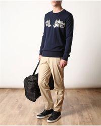 Markus Lupfer Blue Love Hate Wool Knit Sweater for men