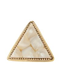 River Island - Metallic Triangle Statement Ring - Lyst