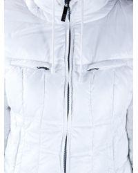 Armani Jeans White Padded Jacket