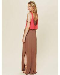 Free People Brown Emma Too Fer Dress