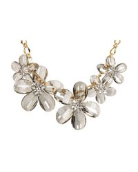 Kate Spade | Metallic Delacorte Floral Swag Necklace | Lyst