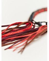 Alyssa Norton | Red Unisex Braided Silk and Suede Bracelet | Lyst