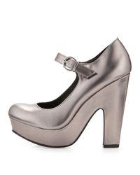 Dolce Vita - Metallic The Brill Shoe in Dark Silver - Lyst