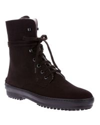 Tod's Brown Laceup Ankle Boot