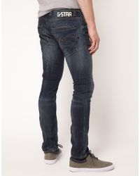 G-Star RAW Blue Defend Super Slim Jeans for men