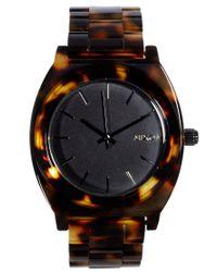 Nixon | Brown Tortoiseshell Acetate Watch | Lyst