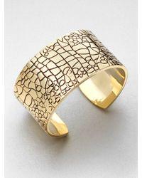 ABS By Allen Schwartz | Metallic Golden Island Alligator Bangle Bracelet | Lyst