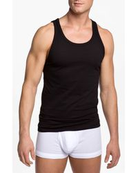 Calvin Klein | Black Slim Fit Tank for Men | Lyst