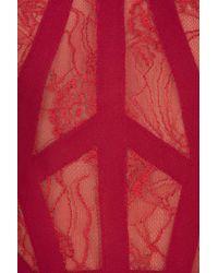 Elie Saab   Red Sl Lace Georgete Lg Gown   Lyst