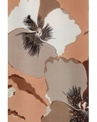 Gucci | Orange Cropped Printed Silk Georgette Pants | Lyst