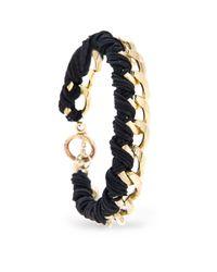 Mango | Black Touch Braided Chain Bracelet | Lyst