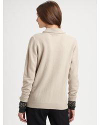 3.1 Phillip Lim | Gray Embellished Wool Pullover Sweater | Lyst