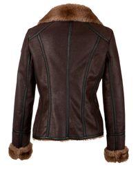 Armani Jeans Brown Shearling Aviator Jacket
