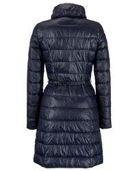 Armani Jeans Blue Long Light Weight Puffa Coat