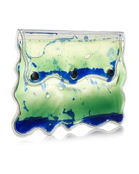 Christopher Kane Blue Aqua Gel-filled Pvc Clutch