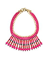 Mango - Pink Ethnic Necklace - Lyst