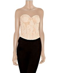 Rosamosario | Natural Lace Corset | Lyst