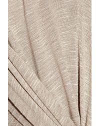 T-bags - Natural Knot-front Slub-jersey Maxi Dress - Lyst