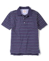 Brooks Brothers | Blue Multi Fine Stripe Jersey Polo for Men | Lyst