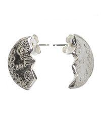 Husam El Odeh | Metallic Broken Coin Earring Silver | Lyst