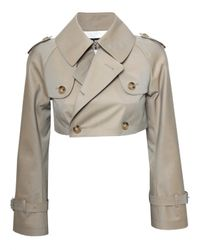 Junya Watanabe Natural Cropped Trench Jacket Biscuit