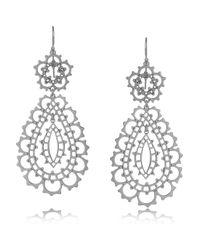 Laurent Gandini Metallic Sterling Silver Drop Earrings
