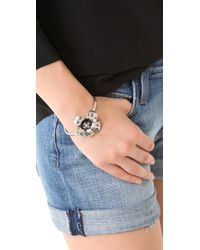 Marc By Marc Jacobs | Metallic Marc Flowers Petit Flower Cuff | Lyst