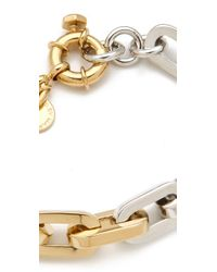 Marc By Marc Jacobs Metallic Mini Links Bicolor Link Bracelet