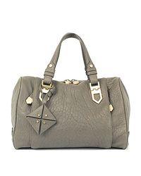 Nicole Miller Gray Arrowhead Speedy Bag