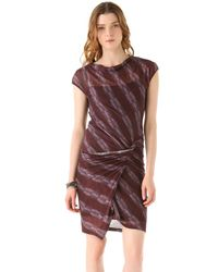 See By Chloé Brown Ruched Waist Dress