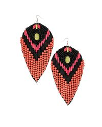 TOPSHOP - Pink Large Beaded Drop - Lyst
