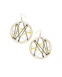 TOPSHOP | Yellow Web Wrap Hoop Earrings | Lyst