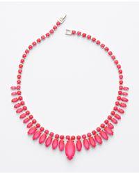 Ann Taylor - Pink Sunburst Necklace - Lyst