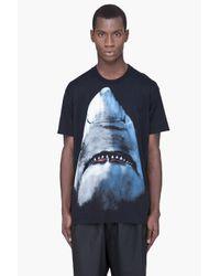 Givenchy Black Shark Print T-Shirt for men