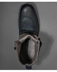 John Varvatos Black Barrett Hidden Lace Boot for men