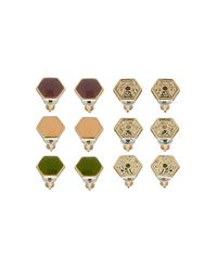 TOPSHOP - Multicolor Hexagon Earring Multi Pack - Lyst