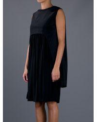 Balenciaga | Black Pleated Cape Dress | Lyst