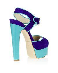 Brian Atwood Blue Karin Platform Sandal