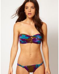 Seventh Wonderland Multicolor Amadora Triple Knot Bandeau Bikini
