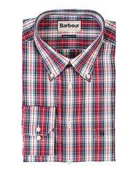 Barbour Drayton Check Shirt Red for men
