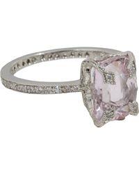 Cathy Waterman - Metallic Kunzite Diamond Ring - Lyst