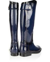 Dav Blue Distressed Equestrian Wellington Boots