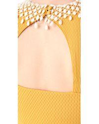 Free People Yellow Waffle Knit Dress