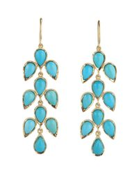 Irene Neuwirth Blue Leaf Drop Earrings