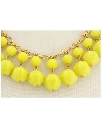 kate spade new york - Yellow Cut To The Chase Short Necklace - Lyst