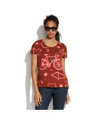 Madewell Red Bicycle Tee