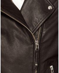 Whistles Black Dree Leather Jacket