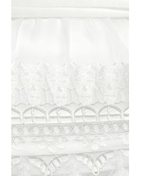 Alice By Temperley White Mini Giselle Chiffon Dress