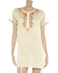 Antik Batik Natural Embroidered Cotton Dress
