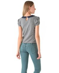 Free People - Gray Call Me Molly Top - Lyst